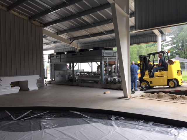 Delivery of Chiller on July 21, 2015.