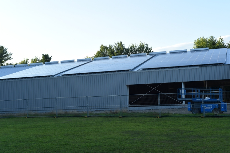 The Arena's Solar PV panels.